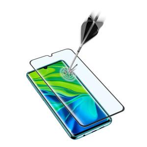 Folie Sticla Cellularline Anti-Shock pentru Xiaomi Mi Note 10 Negru