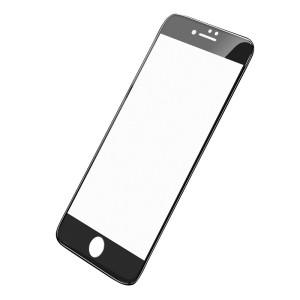 Folie Sticla Hoco Silkscreen pentru iPhone 7/8 Plus Negru
