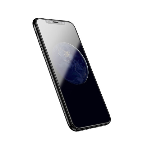 Folie sticla Nano 3D iPhone X/XS, Hoco Neagra