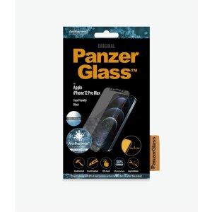 Folie Sticla Panzer Anti Reflexiv pentru iPhone 12 Pro Max Negru