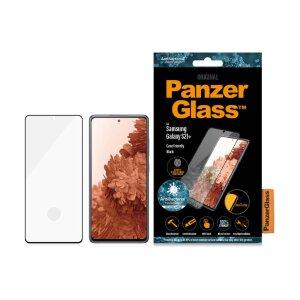 Folie Sticla Panzer Antibacterial pentru Samsung Galaxy S21 Plus Negru