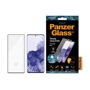 Folie Sticla Panzer Antibacterial pentru Samsung Galaxy S21 Ultra Negru