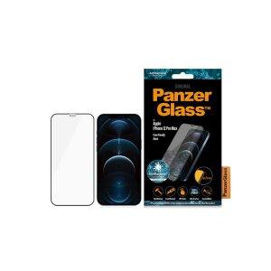 Folie Sticla Panzer pentru iPhone 12 Pro Max Negru