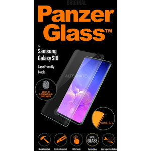 Folie Sticla Panzer pentru Samsung Galaxy S10 Negru