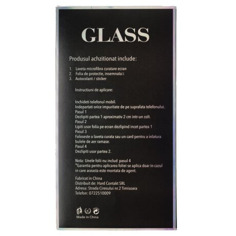 Folie Sticla 2.5D pentru iPhone 12 Mini Negru