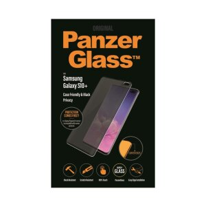 Folie Sticla Privacy Panzer pentru Samsung Galaxy S10 Plus Negru