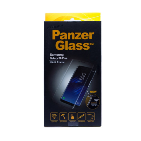 Folie sticla Samsung Galaxy S8 Plus, PanzerGlass Negru