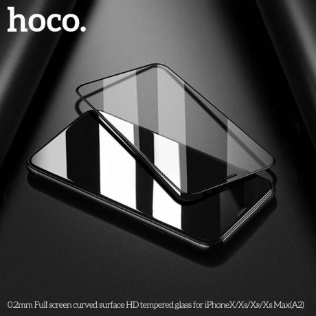Folie sticla temperata 3D iPhone X, Hoco 0.2mm Neagra