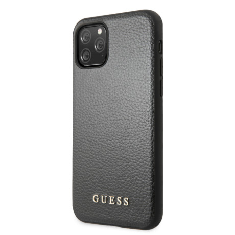 Guess Husa din Piele Sintetica pentru iPhone 11 Pro Negru