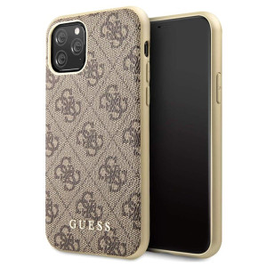 GUHCN61G4GB Guess 4G Zadni Kryt pro iPhone 11 Brown