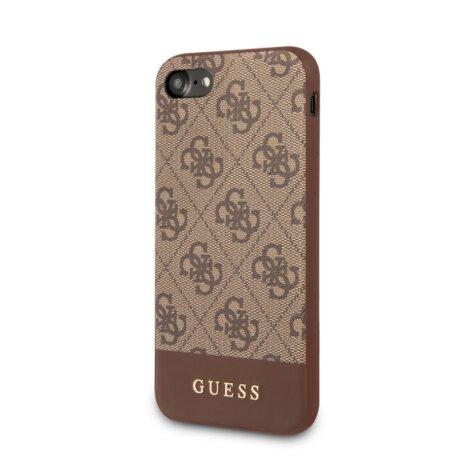 Guess Husa pentru iPhone 7/8/SE, Stripe Cover, Maro