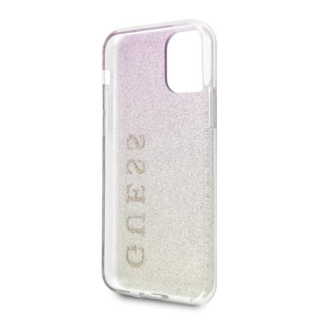 Husa Cover Guess Glitter Gradient pentru iPhone 11 Pro Gold Pink