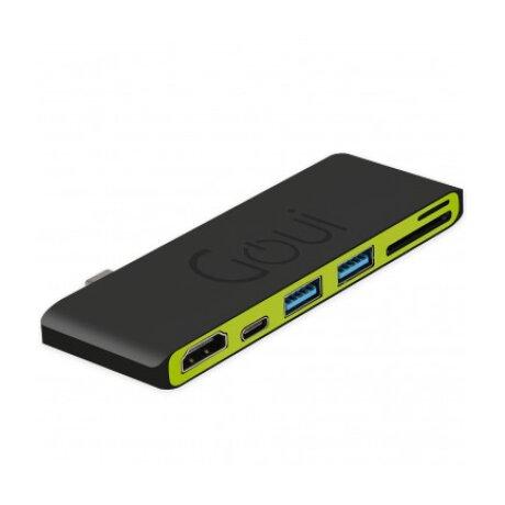 Hub Goui Hubi  USB Type C 6 Interfete Negru