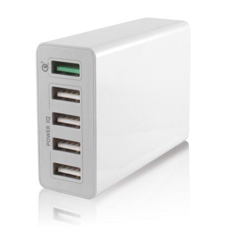 Hub Ksix Smart Smart 5xUsb 10A QC 3.0 Alb