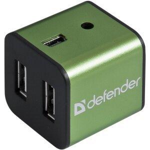 Hub USB Defender Quadro Iron 4xUsb Aluminium 0.5A Negru