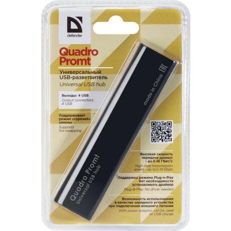 Hub USB Defender Quadro Promt 4xUsb 0.5A Negru