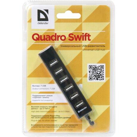 Hub Usb Defender Quadro Swift 7xUsb 0.5A Negru