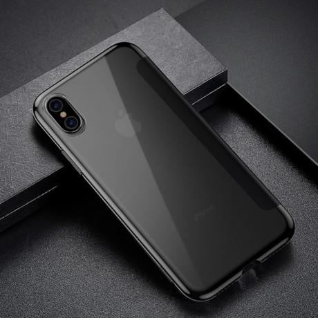 Husa 360 iPhone XS Max 6.5'' Translucent View, Baseus, Neagra