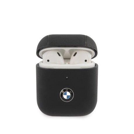Husa Airpods BMW Signature Leather pentru Airpods 1/2 Black
