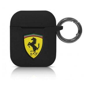Husa Airpods Ferrari Silicone  pentru Airpods 1/2 Black