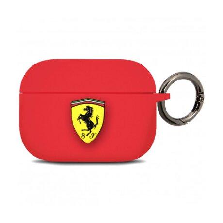 Husa Airpods Ferrari Silicone pentru Airpods Pro Red