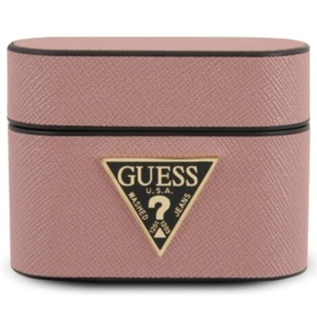 Husa Airpods Guess Saffiano pentru Airpods Pro Pink