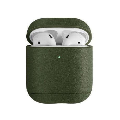 Husa Airpods Leather Uniq Terra pentru Apple Airpods 1/2 Verde