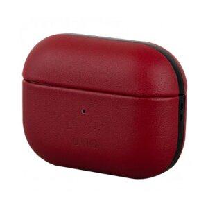 Husa Airpods Leather Uniq Terra pentru Apple Airpods Pro Rosu