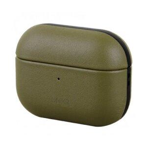 Husa Airpods Leather Uniq Terra pentru Apple Airpods Pro Kaki