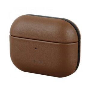 Husa Airpods Leather Uniq Terra pentru Apple Airpods Pro Maro