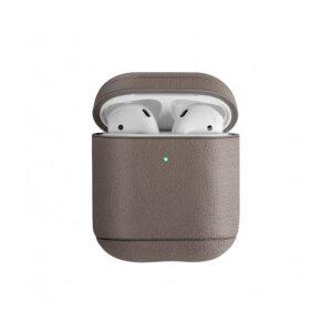 Husa Airpods Leather Uniq Terra pentru Apple Airpods 1/2 Nude