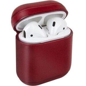 Husa Airpods Leather Uniq Terra TERRED pentru Apple Airpods 1/2 Rosu