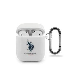 Husa Airpods Us Polo Silicone pentru Airpods White