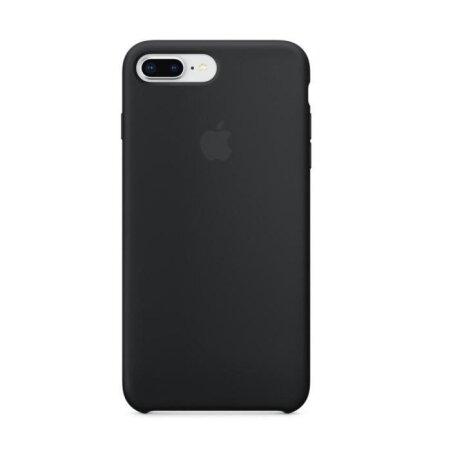 Husa Apple Silicone Cover pentru iPhone 7/8 Plus Black