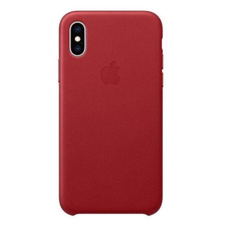 Husa Apple Leather Cover pentru iPhone X/XS Red