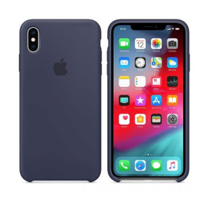 Husa Apple Silicone Cover pentru iPhone XS Max Midnight Blue