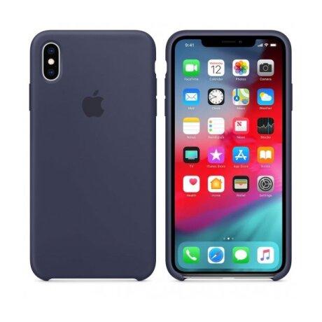 Husa Apple Silicone Cover pentru iPhone XS Max Midnight Blue