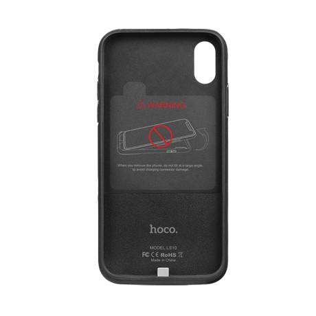 Husa audio digitala iPhone X, Hoco LS10 Neagra