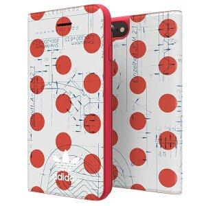 Husa Book Adidas OR pentru iPhone 6/7/8/SE 2 Red-White