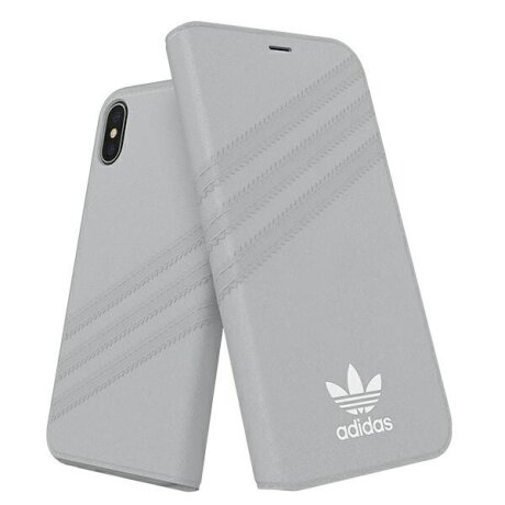Husa Book Adidas Suede pentru iPhone X/XS Grey