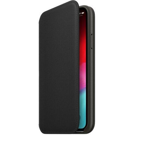 Husa Book Apple Leather Folio pentru iPhone XS Black