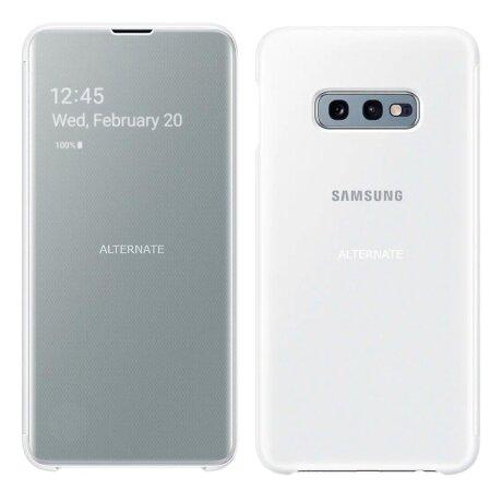 Husa Book Clear View Samsung pentru Samsung Galaxy S10e Alb