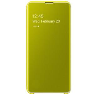 Husa Book Clear View Samsung pentru Samsung Galaxy S10e Galben