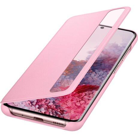 Husa Book Clear View Samsung pentru Samsung Galaxy S20 Plus Roz