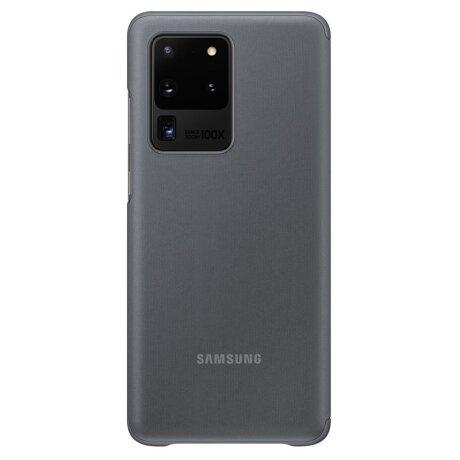 Husa Book Clear View Samsung pentru Samsung Galaxy S20 Ultra Gri