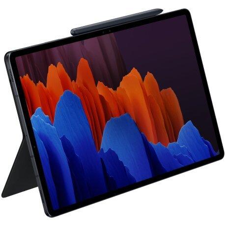 Husa Book Cover Keyboard Samsung pentru Samsung Galaxy Tab S7+ 12.4 Inch Negru