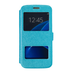 Husa Book D-View Samsung Galaxy S7 Albastru
