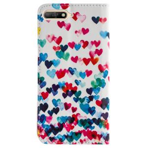 Husa Book Fashion Huawei Y6 2018, Hearts