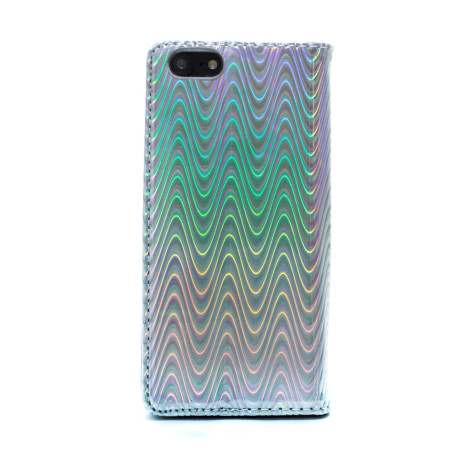Husa Book Fashion iPhone 7/8/SE 2, Argintie Disco