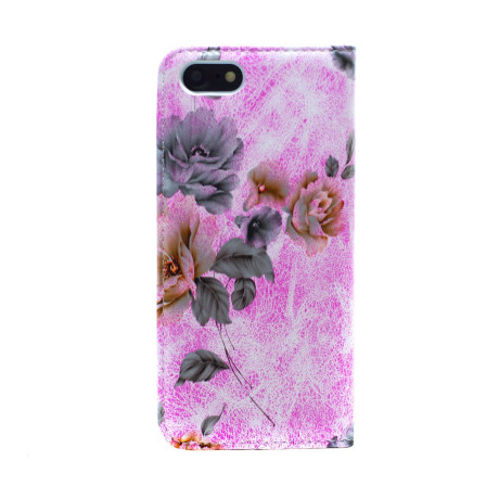 Husa Book Fashion iPhone 7/8/SE 2, Roz model flori